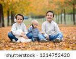 portrait of adorable children ... | Shutterstock . vector #1214752420
