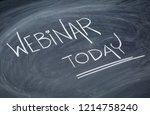 webinar today reminder    white ... | Shutterstock . vector #1214758240