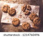 image shows a baking tray or... | Shutterstock . vector #1214760496