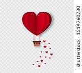 happy valentines day flying... | Shutterstock .eps vector #1214760730