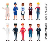 man and women different... | Shutterstock .eps vector #1214769319