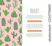 desert flowers banner design  ...   Shutterstock . vector #1214770600