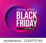 modern black friday banner in... | Shutterstock .eps vector #1214771743