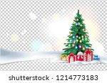 vector spruce christmas tree... | Shutterstock .eps vector #1214773183