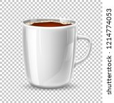 Vector White Cup  Mug Of Brown...