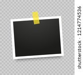 realistic photo frame isolated...   Shutterstock .eps vector #1214774536