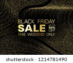 black friday sale gold glitter... | Shutterstock .eps vector #1214781490