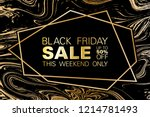 black friday sale up to 50  off ... | Shutterstock .eps vector #1214781493