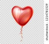 realistic heart shape red... | Shutterstock .eps vector #1214781529