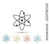 atom icon isolated on white... | Shutterstock .eps vector #1214782120