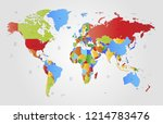 world map vector | Shutterstock .eps vector #1214783476