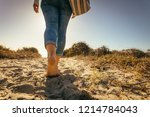 low angle close up of a woman... | Shutterstock . vector #1214784043