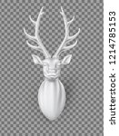 vector sculpture 3d deer head... | Shutterstock .eps vector #1214785153