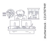 software developer behind the... | Shutterstock .eps vector #1214787949
