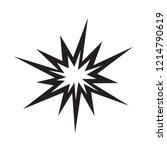 explosion icon  bang icon vector | Shutterstock .eps vector #1214790619