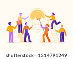 vector illustration in flat... | Shutterstock .eps vector #1214791249