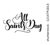 All Saint\'s Day Hand Lettering...
