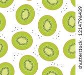 Kiwi Sliced   Fruit Seamless...
