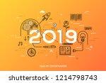 infographic concept  2019  ... | Shutterstock .eps vector #1214798743