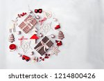 christmas decorative ornaments... | Shutterstock . vector #1214800426