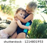 Two Sisters Hug. Family Values...