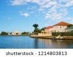 summer villa of george town ...   Shutterstock . vector #1214803813