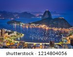 night views of sugarloaf and... | Shutterstock . vector #1214804056