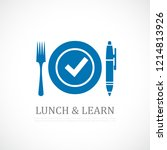 lunch and learn symbol | Shutterstock .eps vector #1214813926