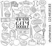 new york city travel ... | Shutterstock .eps vector #1214818183