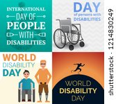 world day persons disabilities... | Shutterstock .eps vector #1214830249