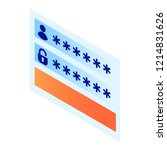 login password window icon.... | Shutterstock .eps vector #1214831626