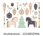 set of christmas elements.... | Shutterstock .eps vector #1214832946