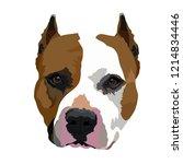 portrait of the smiling dog... | Shutterstock .eps vector #1214834446