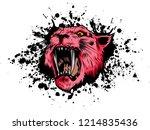 vector illustration tiger eyes... | Shutterstock .eps vector #1214835436