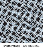 tileable recurring sinuous warp ... | Shutterstock .eps vector #1214838253