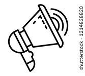 modern bullhorn icon. outline... | Shutterstock .eps vector #1214838820