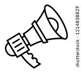 alert bullhorn icon. outline... | Shutterstock .eps vector #1214838829