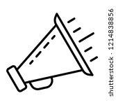 bullhorn icon. outline bullhorn ... | Shutterstock .eps vector #1214838856