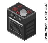 modern stove icon. isometric of ... | Shutterstock .eps vector #1214842339