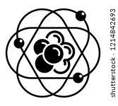 atom molecule icon. simple...   Shutterstock .eps vector #1214842693