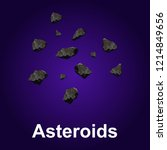 asteroids icon. isometric of...