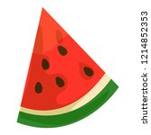 watermelon slice icon. cartoon... | Shutterstock .eps vector #1214852353