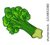 garden broccoli icon. cartoon... | Shutterstock .eps vector #1214852380