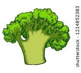 green broccoli icon. cartoon of ... | Shutterstock .eps vector #1214852383