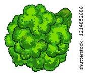 natural broccoli icon. cartoon... | Shutterstock .eps vector #1214852686