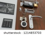 safety and security concept.... | Shutterstock . vector #1214853703
