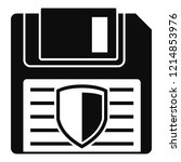 floppy disk protected icon.... | Shutterstock .eps vector #1214853976