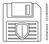 floppy disk protected icon.... | Shutterstock .eps vector #1214854009