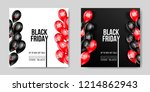 black friday sale poster with... | Shutterstock .eps vector #1214862943