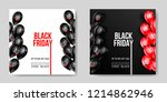 black friday sale poster with... | Shutterstock .eps vector #1214862946